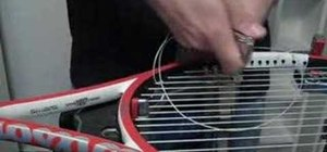 Tighten your knots on a tennis racket