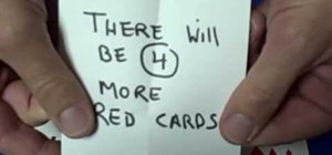 Perform the prediction card trick