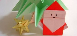 Fold a simple origami Santa Claus for Christmas