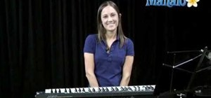 "Play ""Telephone"" by Lady Gaga on a keyboard instrument"
