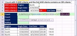 Count with Boolean criteria in Microsoft Excel 2010