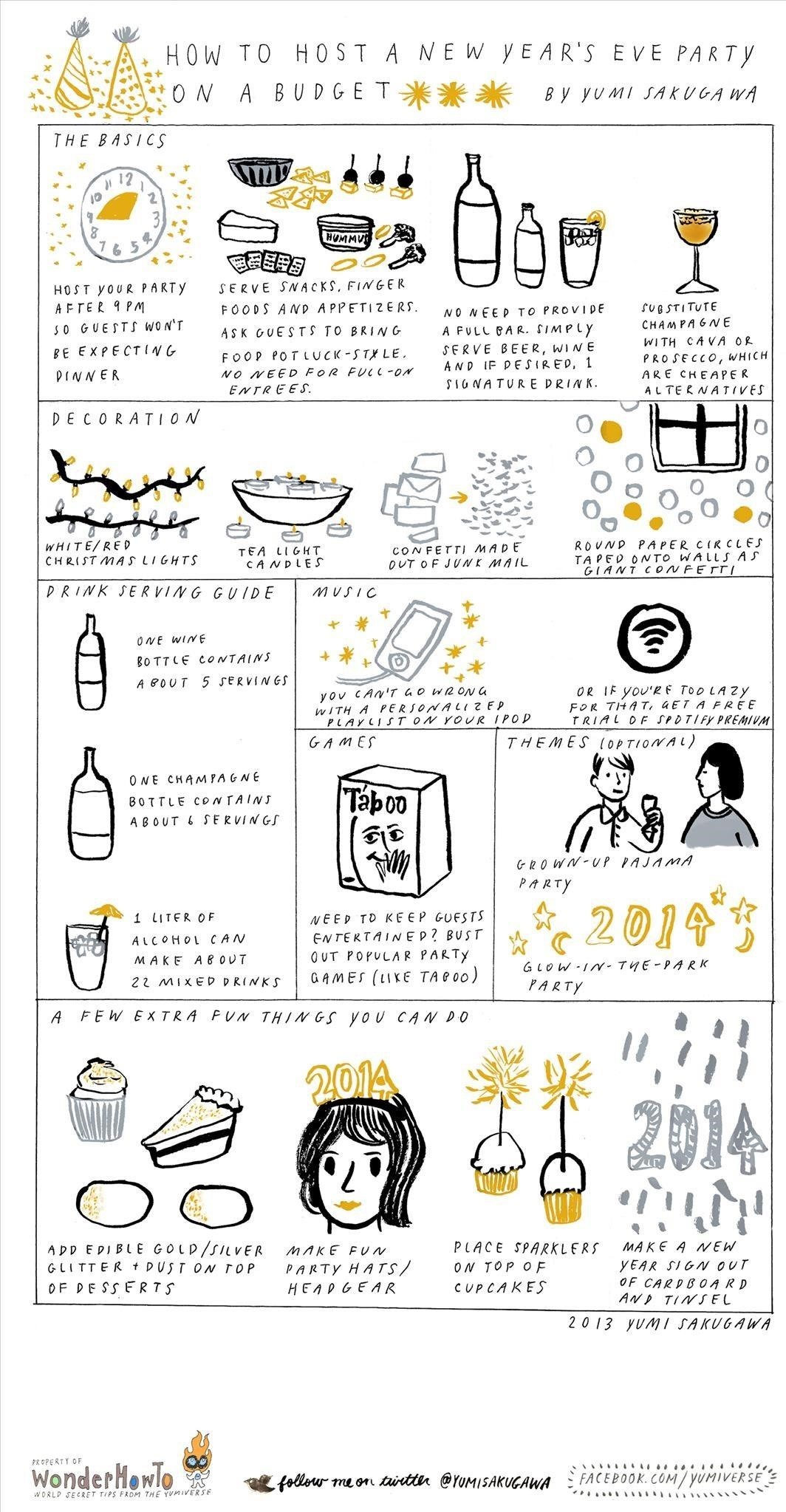How to Host a New Year's Eve Party on a Budget