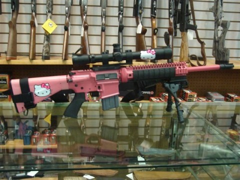 Awfully Cute Hello Kitty Weaponry