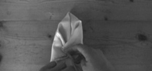 Fold a Pocket Square in a winged and rolled puff style