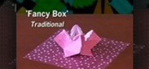 Make a fancy box from folded paper with origami