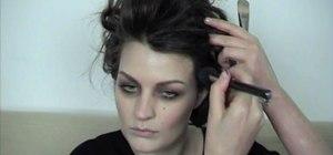 Apply a Helena Bonham Carter-inspired makeup look