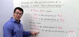 Define an indefinite integral in calculus
