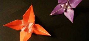 Easily make an origami flower