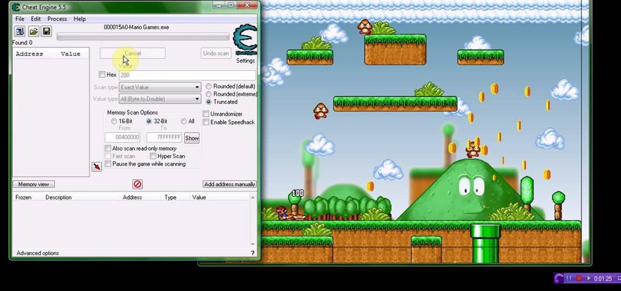 How to Hack Mario Games with Cheat Engine 5 5 (09/30/09