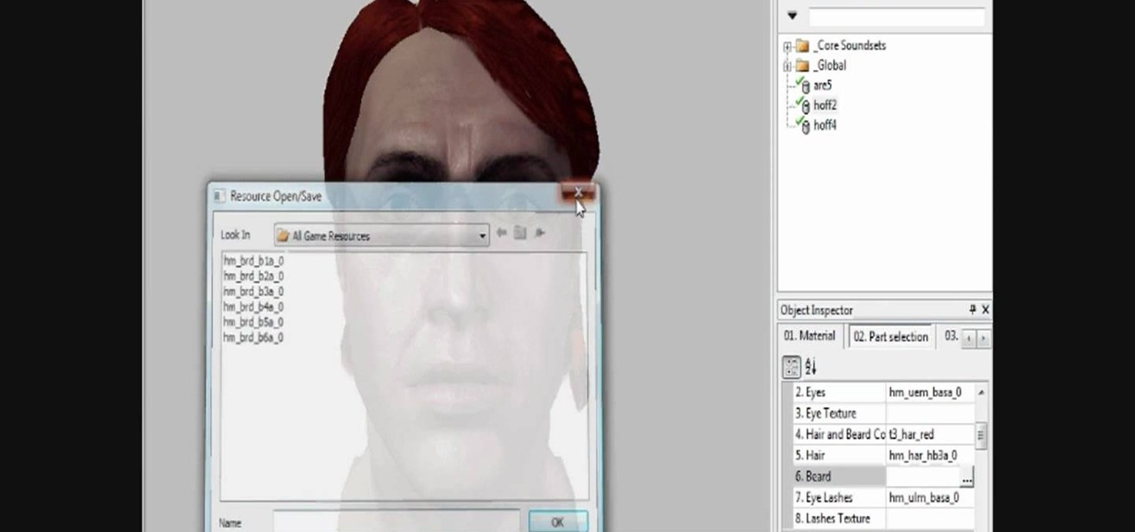 How to Create and edit head morphs in the Dragon Age Origins toolset