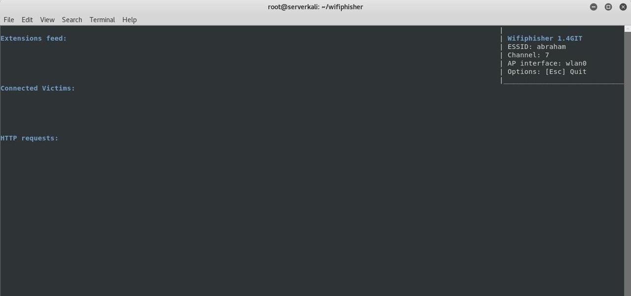 Wifiphisher Stuck « Null Byte :: WonderHowTo