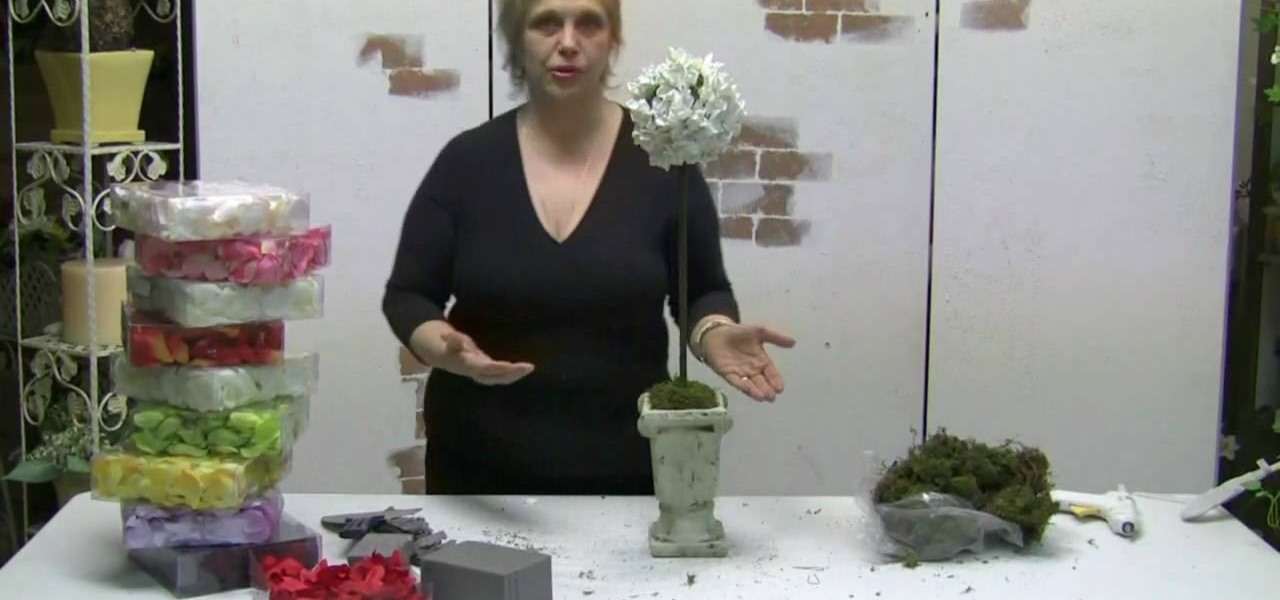 how to make a silk rose petal topiary  u00ab flower arrangement