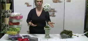Make a silk rose petal topiary