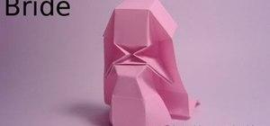 Fold an advanced geometric origami bride/princess