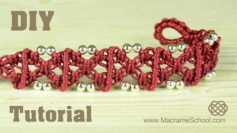 X Patterned Square Knot Bracelet - Easy Tutorial