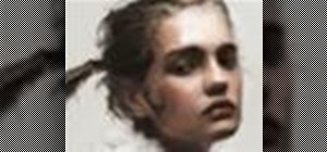 Draw a realistic female portrait