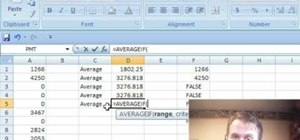 Find a mean for data set while excluding 0s in Excel