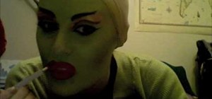 Apply Star Wars Twi'lek costume makeup