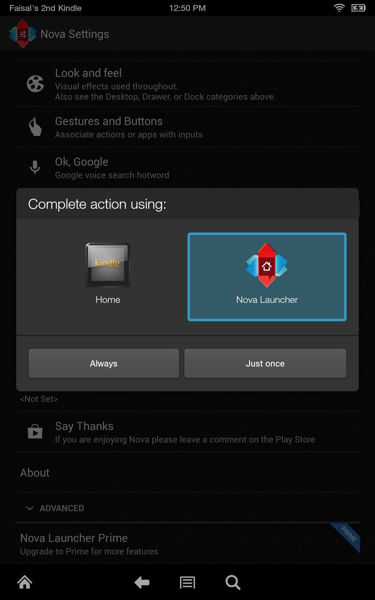 How to Get a Standard Android Home Screen on Your Kindle Fire