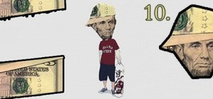 Make Abe Lincoln Look Like a B-Boy ($5-Dollar Bill Origami)
