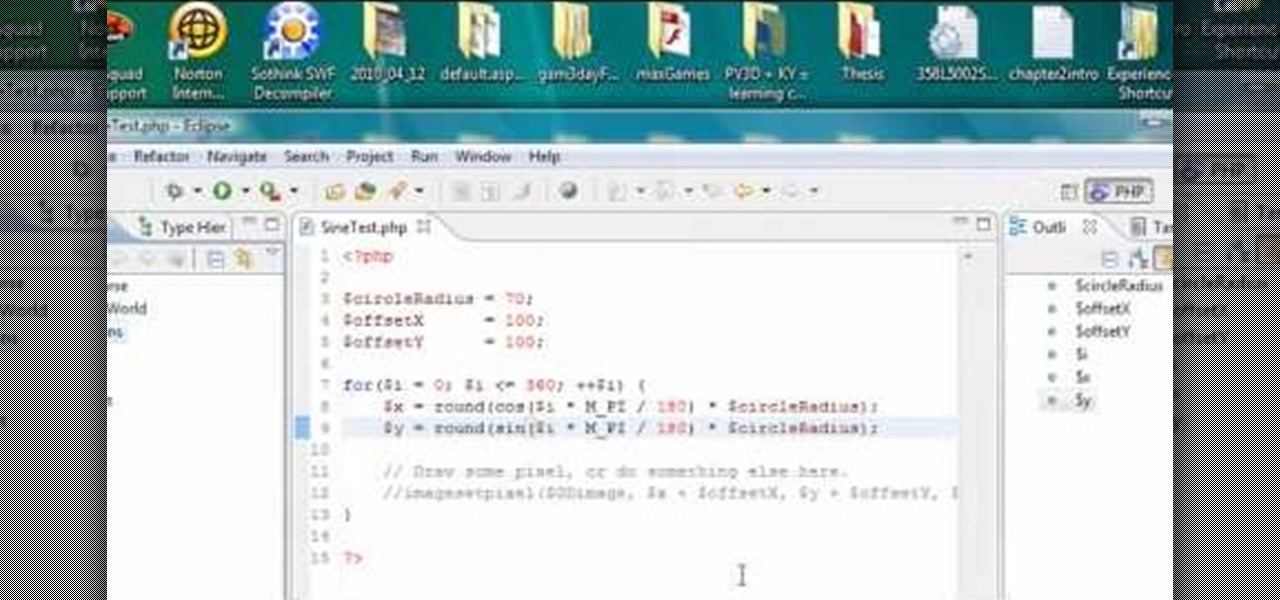 writing a java app in eclipse