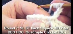 Crochet loppy granny square