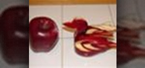 Carve a duck out of an apple