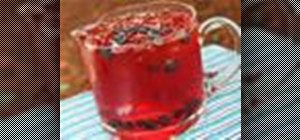 Make home-brewed rooibos & hibiscus herbal iced tea