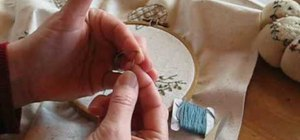 Set up an embroidery hoop and finish off your work