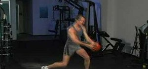 Practice center and diagonal heavy medicine ball chops