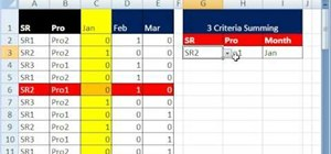 Conditionally format an Excel column-row intersection