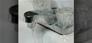 Replace a washer in a leaky faucet