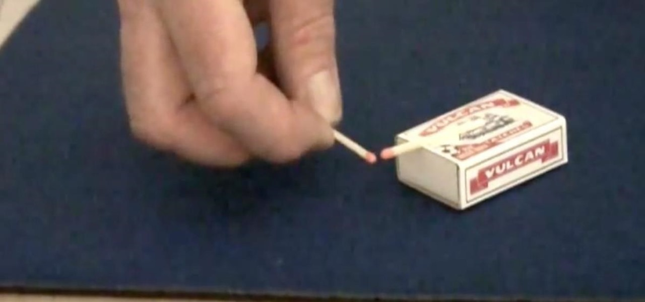 Perform a Magic Telekinetic Trick with Matches