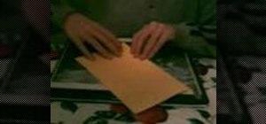 Fold an origami purse