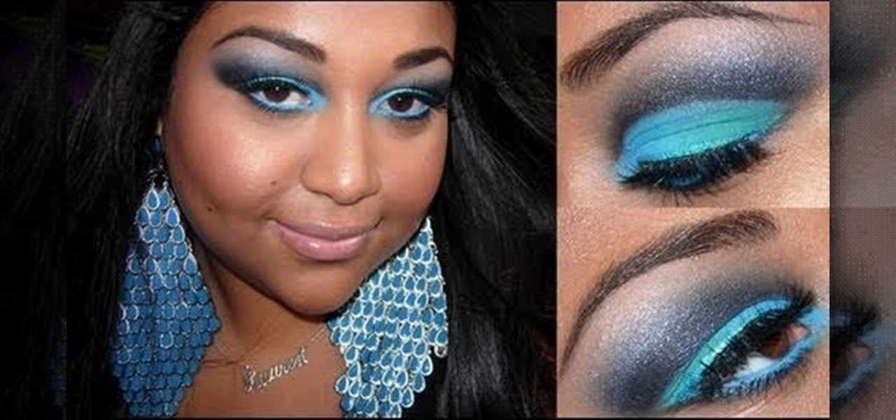 How To Create A Bold Turquoise And Black Eye Makeup Look Makeup
