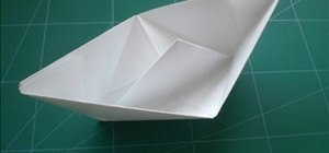 Fold a simple origami ship for beginners
