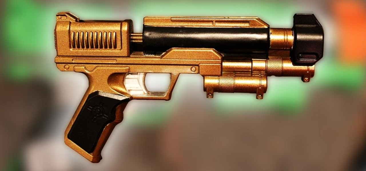 How to the easiest way to paint a steampunk nerf gun no disassembly