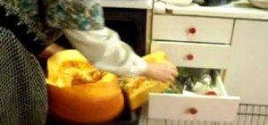 Prepare a pumpkin in the oven for cooking