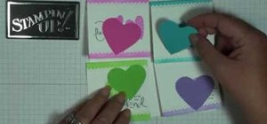 Make January thank you notes with Stampin' Up!