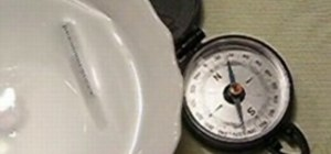Make a floating compass using a pin
