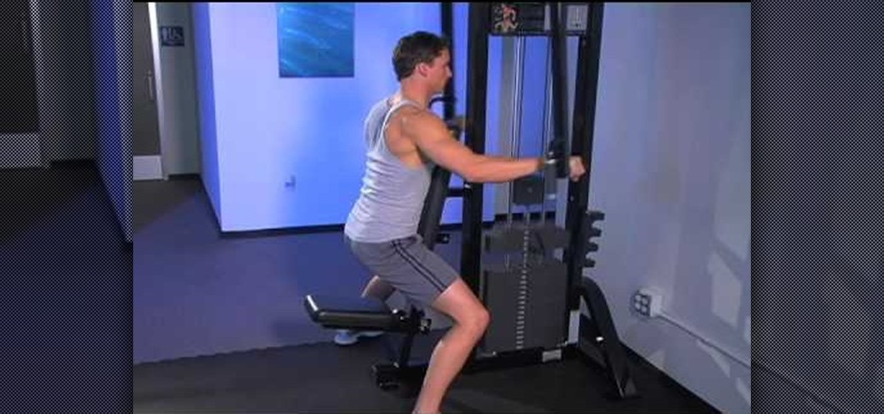 How to work out your shoulders with reverse fly on a pec for Floor underhand cable fly