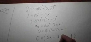 Solve an equation with a radical under a radical