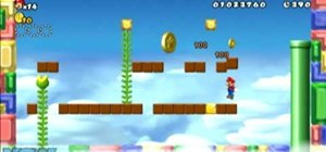 Collect all three Star Coins in New Super Mario Bros Wii World 2-4