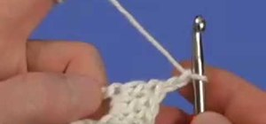 Increase one open square at the end of a crochet row