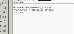 Copy and paste text in Microsoft Visual Basic 6