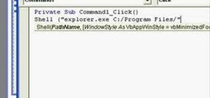Open folders with the shell function in Microsoft Visual Basic 6