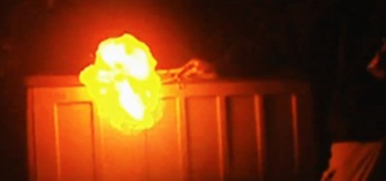 How to Make a Hydrogen Fireball from Aluminum Foil and