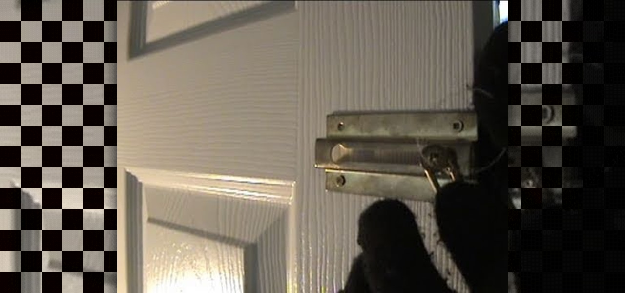 How To Undo A Door 39 S Chain Lock From Outside With String