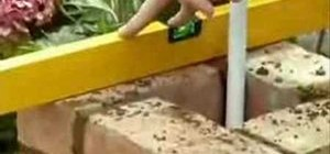 Use a spirit level when bricklaying