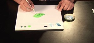 Paint a leaf tree with oil paints